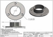 316 Stainless Wall Floor Flange