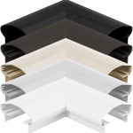 90deg Shaped Corner available in 5 colors: Black, Bronze, Clay, Natural, White