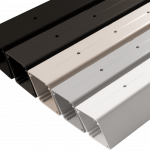 Drilled Intermediate post for Aluminum Square 5 color systems.