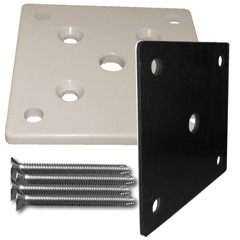 Deck Mount Un Drilled Terminal Post Assembly For 42 Quot Rail