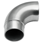 "End Wall Return 2"" OD Round Stainless Steel Material: 1.6mm Wall Thickness Marine Grade 316 round tube Finish: Brushed 180 grit"