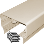 Rectangular aluminum top rail with 14 screws