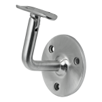 "Wall Mount Adjustable Neck Radius (2"") Saddle Material: 1.6mm Wall Thickness Marine Grade 316 round tube Finish: Brushed 180 grit"