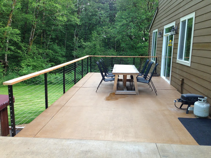 Yacolt WA Stainless Cable Railing Installation 1