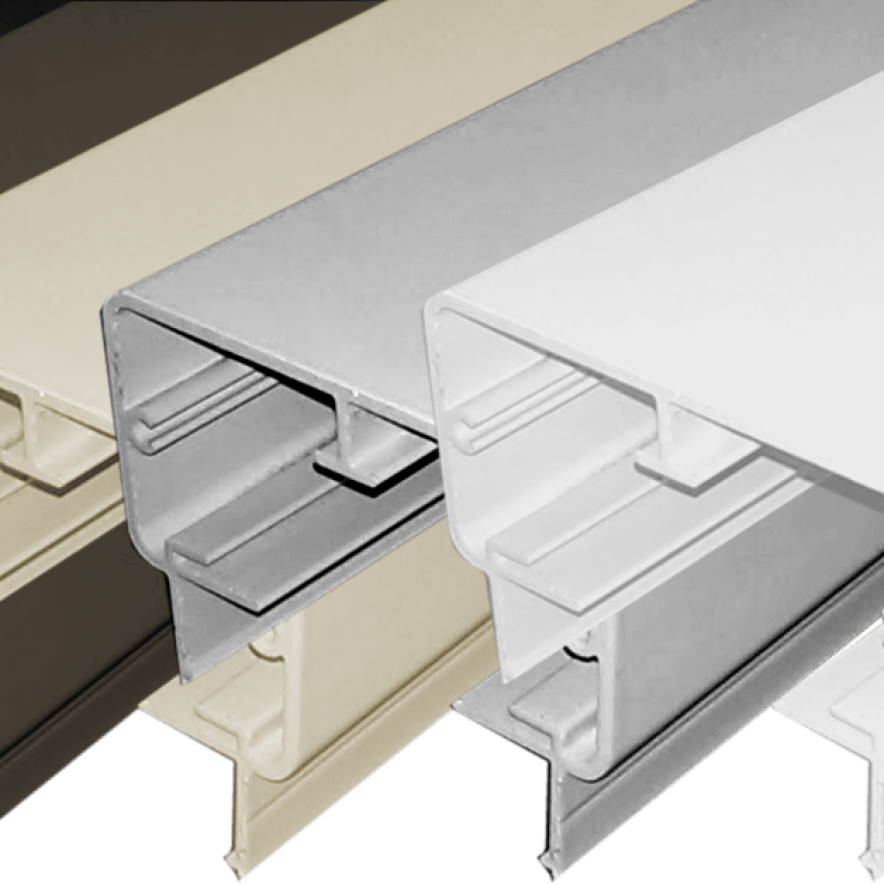 Aluminum Rectangular Top Rail in 5 colors