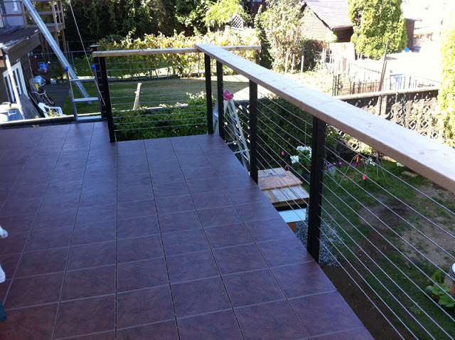 Cable Railing Systems with Wood Railing